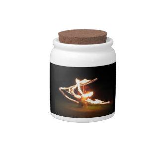 Hawaii Fire Dance Candy Jar