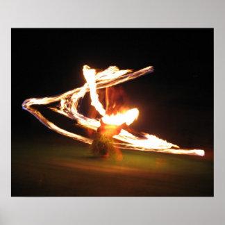 Hawaii Fire Dance Poster