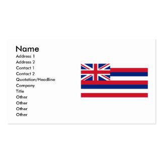 Hawaii Flag Business Card
