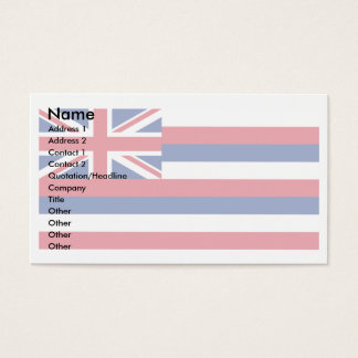 Kauai business cards templates zazzle hawaii flag business card reheart Image collections