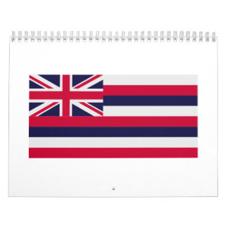 Hawaii flag calendar