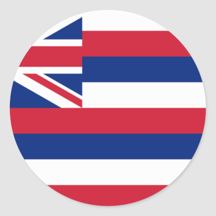 Hawaii Flag Classic Round Sticker