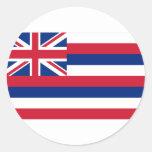Hawaii Flag Classic Round Sticker
