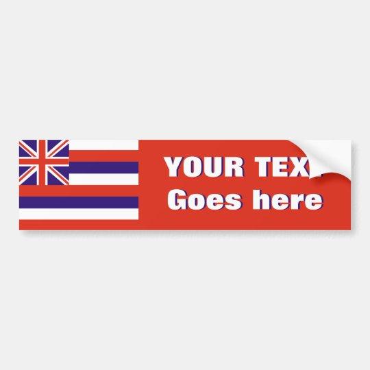 Hawaii flag create your own bumper sticker
