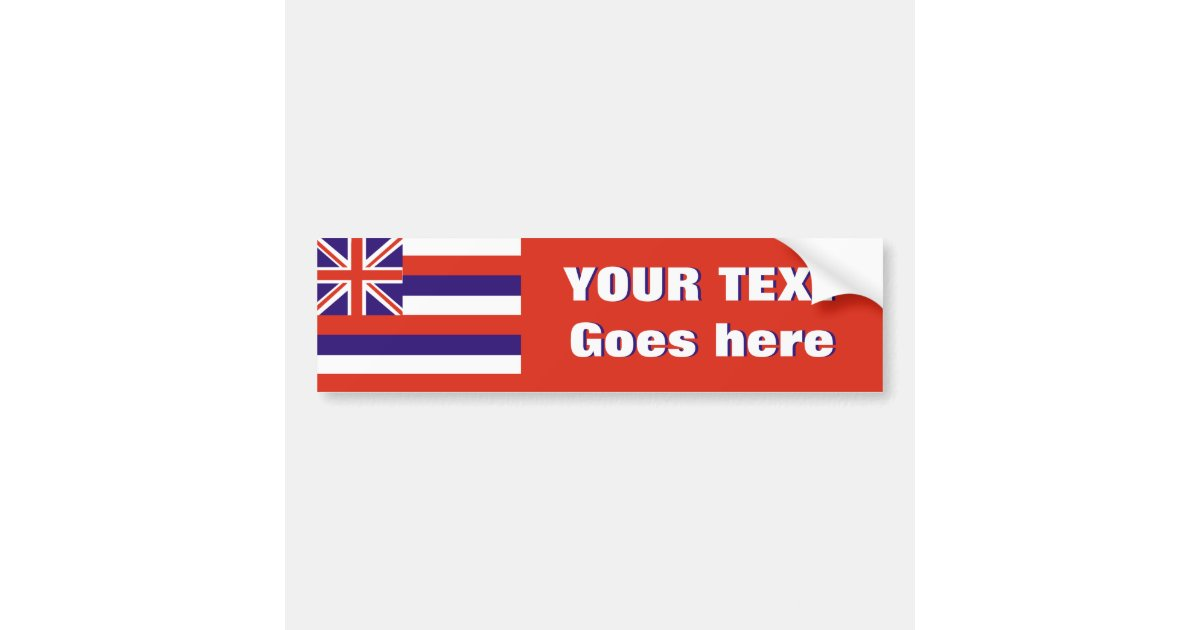 Hawaii flag create your own bumper sticker zazzle com