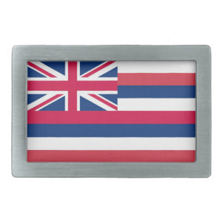 Hawaii Flag Design Rectangular Belt Buckle