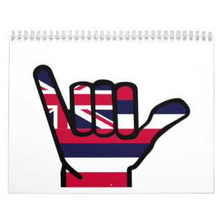 Hawaii flag hand calendar