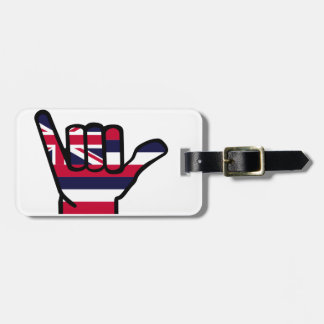 Hawaii flag hand luggage tag
