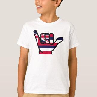Hawaii flag hand T-Shirt