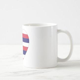 Hawaii Flag Heart Coffee Mugs