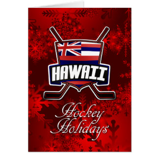 Hawaii Flag Hockey Christmas Card