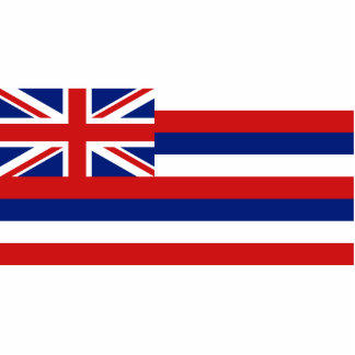 Hawaii Flag Keychain Cut Out