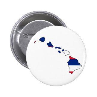 Hawaii Flag Map 2 Inch Round Button