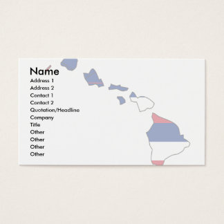 Kauai business cards templates zazzle hawaii flag map business card reheart Image collections
