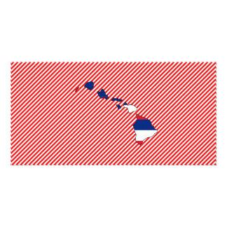 Hawaii Flag Map Card