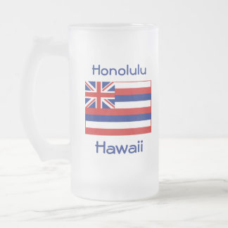 Hawaii Flag Map City Mug