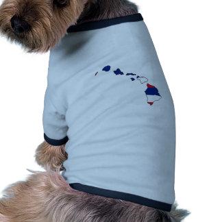 Hawaii Flag Map Doggie T Shirt