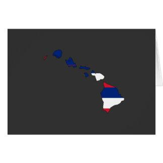 Hawaii Flag Map Greeting Card