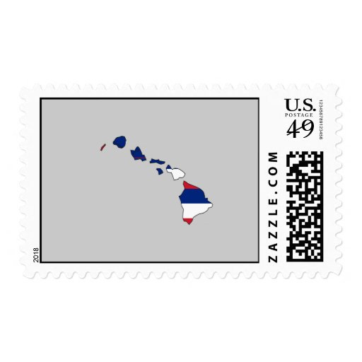 Hawaii Flag Map Postage