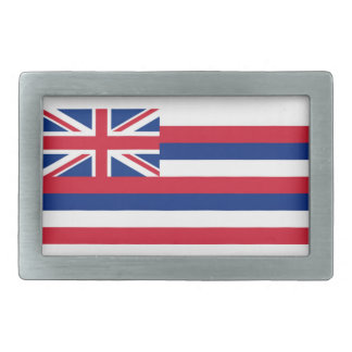 Hawaii flag rectangular belt buckle