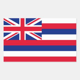Hawaii Flag Rectangular Sticker