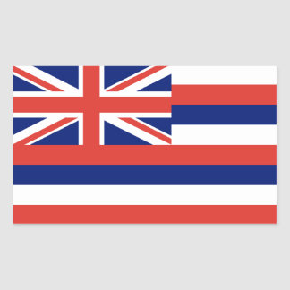 Hawaii Flag Rectangular Sticker