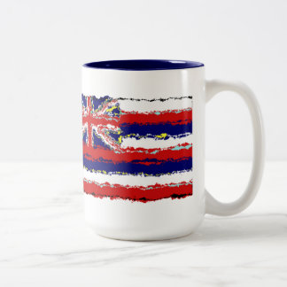 HAWAII FLAG Two-Tone COFFEE MUG