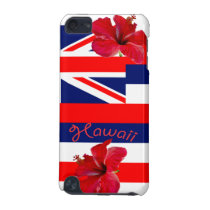 Hawaii Flag with Red Hibiscus iPod Touch 5G Cover
