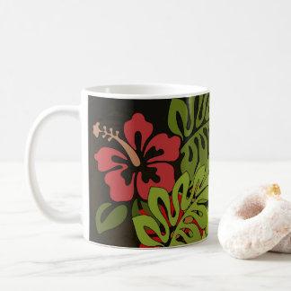 Hawaii Floral Vintage Artwork Print Tropical Coffee Mug