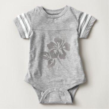 Hawaiian Themed Hawaii Flower Baby Bodysuit