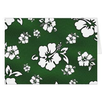 Hawaii flower card