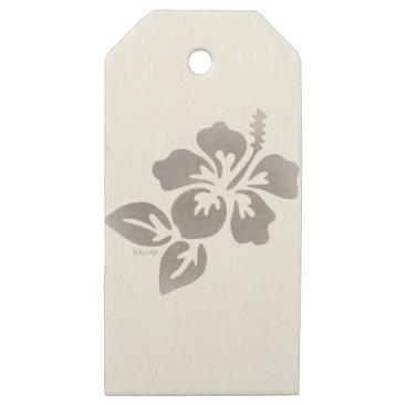 Hawaiian Themed Hawaii Flower Wooden Gift Tags