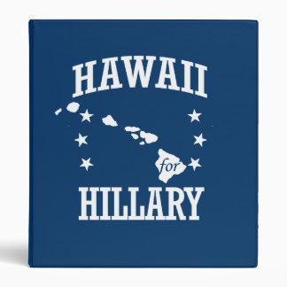 HAWAII FOR HILLARY 3 RING BINDERS