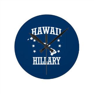 HAWAII FOR HILLARY ROUND WALLCLOCK