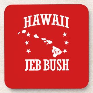 HAWAII FOR JEB BUSH DRINK COASTER