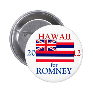 Hawaii for Romney 2012 Pinback Button