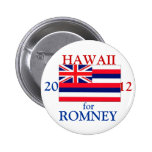 Hawaii for Romney 2012 Pinback Buttons