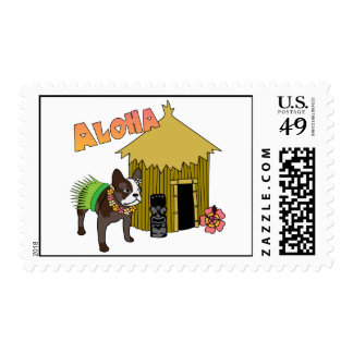 Hawaii French Bulldog Postage Stamps