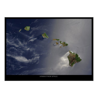Hawaii From Space Poster