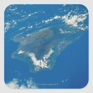Hawaii from Space Square Sticker