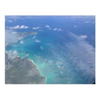 Hawaii from the sky 2 postcard