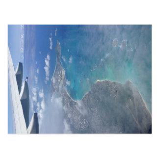 Hawaii from the sky postcard