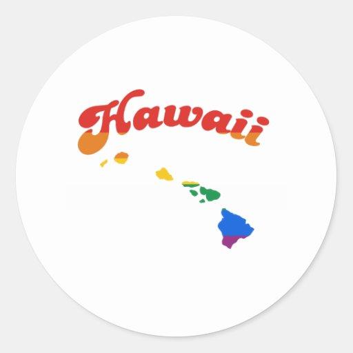 HAWAII GAY PRIDE CLASSIC ROUND STICKER