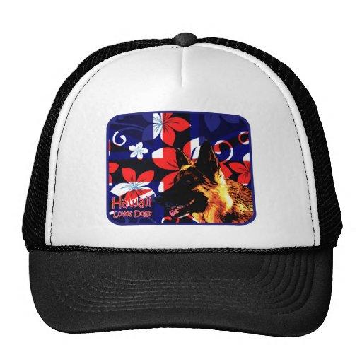 Hawaii German Shepherd Trucker Hat