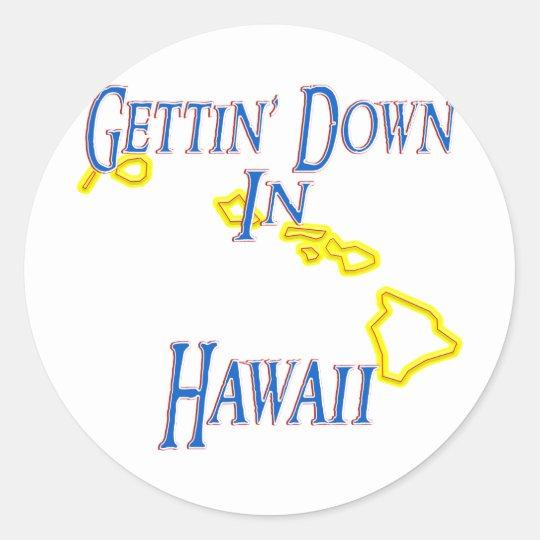 Hawaii - Gettin' Down Classic Round Sticker