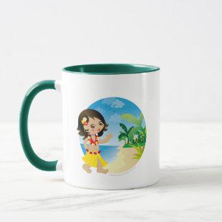 Hawaii girl mug