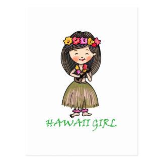 Hawaii Girl Postcard