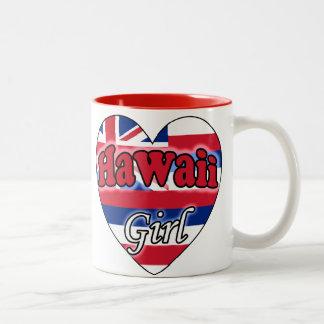 Hawaii Girl Two-Tone Coffee Mug