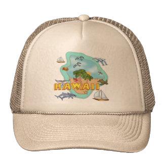 Hawaii Gorros Bordados