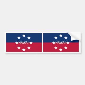 Hawaii Governor Flag Bumper Sticker